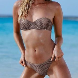New w/o tags Victoria's Secret bronze mesh bikini